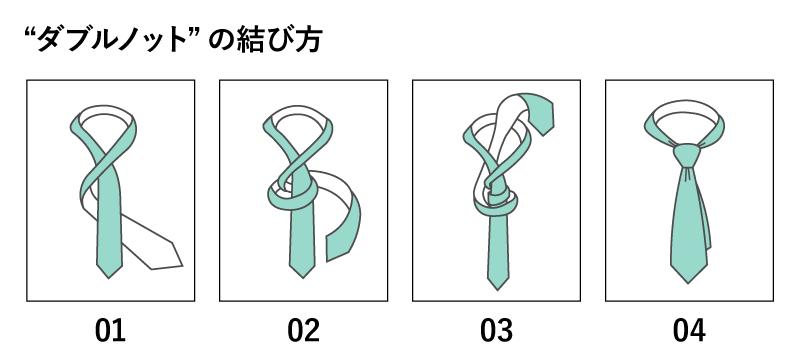 ダブルノットの結び方